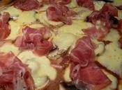 Pizza coppa jambon champignons frais mozzarella