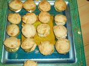 Mini-muffins poivrons, fourrés mascarpone pesto