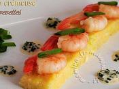 Crevettes piment d'espelette polenta crémeuse