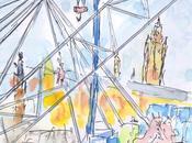 Grande roue Lille Grand'Place cours montage dessin aquarellé