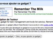 Ajoutez Remember Milk Google Agenda