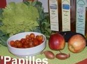 Salade chou Romanesco, radis noir tomates cerises