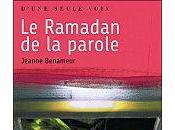 ramadan parole Jeanne Benameur
