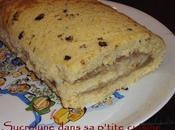 Roulé crème pâtissière marronée