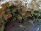 Lasagnes ravioles courgettes saumon fumé