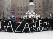 Montréal Manifestation solidarité Gaza