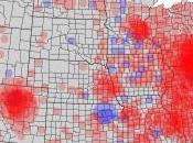Carte interactive crise financière Etats-Unis