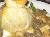 Pastillas confit canard, champignons foie gras