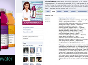 Intégrer logo Facebook packaging pour recruter Fans: Vitaminwater