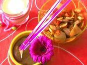 Chips accompagnées d'une confiture lait noisette/safran