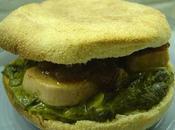 Muffins anglais foie gras epinard