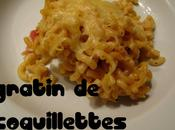 100% régression: gratin coquillettes