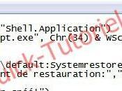 #155 Créer point restauration Windows partir d'un raccourci.