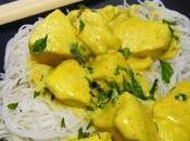 Poulet curry express nouilles Thaï