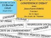 Jean-Pierre Dubois (Président Ligue Droits l'Homme) Corse vendredi. programme déplacement.