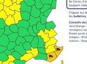 Vigilance Orange Météo-France pour Corse: bulletin 13h00