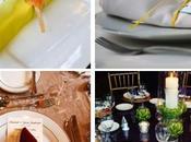 serviettes table: plige serveittes, idées décorations mise place table