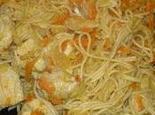poulet légumes nouilles chinoises