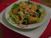 Salade thaï crevettes clémentines