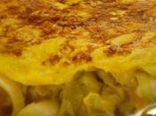 Omelette poireaux mozzarella