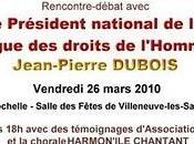 Invitation mars Président national Rochelle
