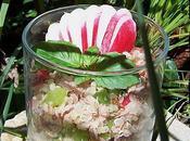 Salade quinoa thon petit légumes croquants.