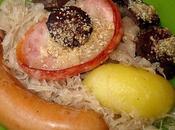 Choucroute garnie Saucisses Boudin noir four