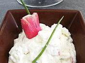 Verrine radis chèvre frais