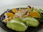 Salade poulet 'light' l'avocat l'orange