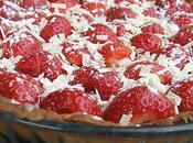 Tarte fraises ganache blanche