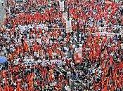 Mobilisation populaire grèce avec communistes
