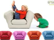 baby inflatable chesterfield armchair kids