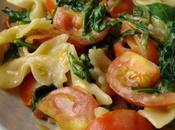Pâtes roquette tomate parmesan