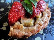 Tartelettes fraises-rhubarbes