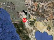 Juin 2010, séisme magnitude 5.8, épicentre faille Andréas, frappe Baja California, Mexique.