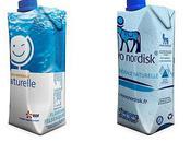 Drinkyz crée briques d'eau personnalisées couleurs d'EDF Novo Nordisk