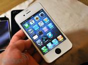iPhone blanc spécial avec petite touche noir