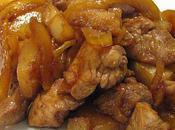 Sauté dinde l'ananas, soja gingembre, fruits secs