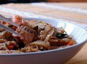 Mandoline, amour... Spaghettis légumes crevettes sautées