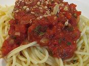 Pâtes sauce tomate poivrons grillés