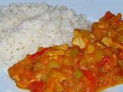 Dinde petits légumes lait coco curry