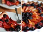 Tarte tutti-frutti sirop Cointreau vanillé