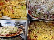 Pizza tagliatelle courgettes.