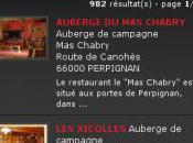 site mobile pour découvrir hôtels restaurants Pyrénées Orientales