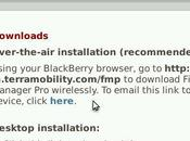 Installer nouvelles applications Blackberry