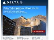 Delta ouvre réservations Facebook