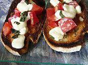 Tartines poires gorgonzola