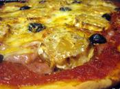 dimanche soir c'est Pizza pâte fine jambon chèvre
