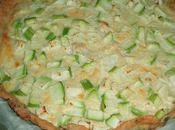 Tarte courgettes fromage poivre, pâte brisée noix
