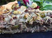 Tarte viande, pomme terre céleri branche Minced meat, potato celery